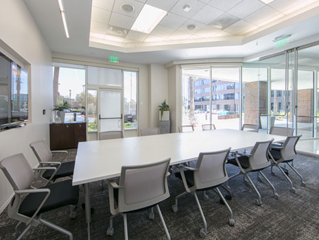 two conference areas available